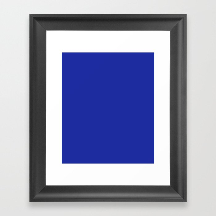 Walmart Blue 1981 1992 Solid Color Framed Art Print By