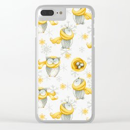 Winter Pattern 6 Clear iPhone Case