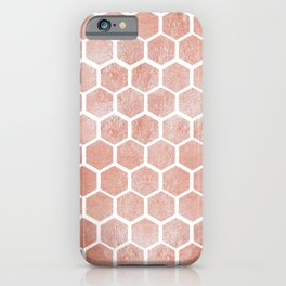 Rose gold bee cube iPhone Case