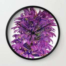 Lobelia Siphilitica Botanical Illustration in Gouache Wall Clock