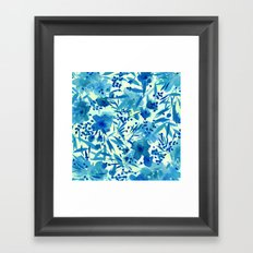 blue pretty flowers  https://society6.com/clemm?promo=X9B3VVZDM7J6 Framed Art Print