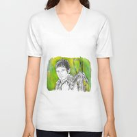 daryl dixon V-neck T-shirts featuring daryl dixon by billykaplan