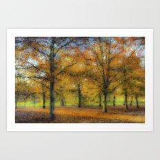 Greenwich Park London Pastel Art Print
