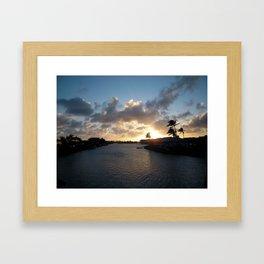 HAWAII KAI SUNSET #4 Framed Art Print
