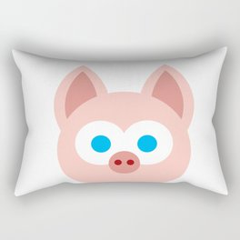 Funny Cartoon Piggy - Professional Design Rectangular Pillow