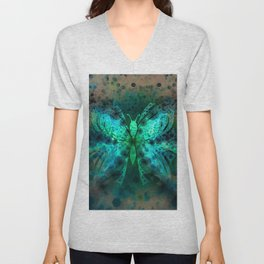 Butterfly Abstract G541 Unisex V-Neck