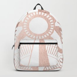 Rose Gold Compass Backpack