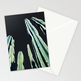 Green Cactus 8 at Night Stationery Cards