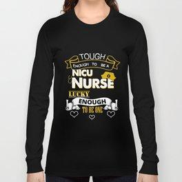 Cute NICU Nurse Neonatal Nursing Preemie Baby Care Long Sleeve T-shirt