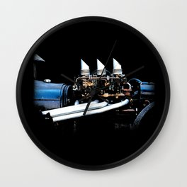 Rat Rod Motor Wall Clock