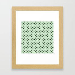 LET'S GO CAMPING, MINT Framed Art Print