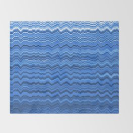 Blue waves pattern Throw Blanket