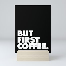 But First Coffee Typography Poster Black and White Office Decor Wake Up Espresso Bedroom Posters Mini Art Print