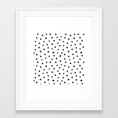 Polka Dot White Background Framed Art Print