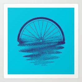 Blue Sunset Mystery Art Print