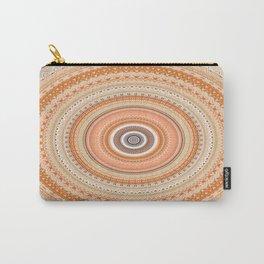Peach Boho Chic Mandala Carry-All Pouch