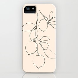 Minimal Lemons iPhone Case