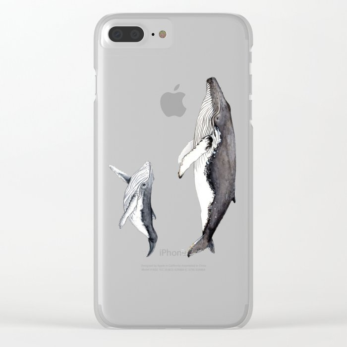 North Atlantic Humpback whale with calf Clear iPhone Case