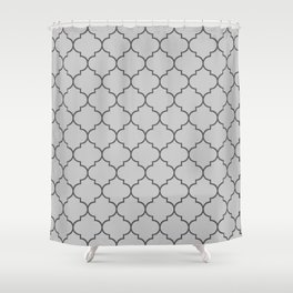 Imperial Trellis in Gasp Gray Shower Curtain