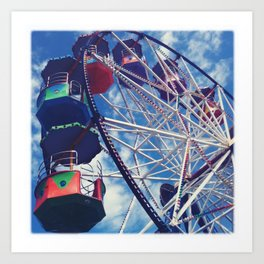 Big Wheel Ferris Wheel Art Print