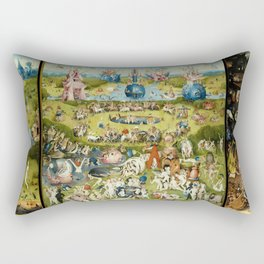 The Garden of Earthly Delights - Hieronymus Bosch Rectangular Pillow