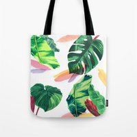 palm Tote Bags featuring PALM by Ellie Cryer