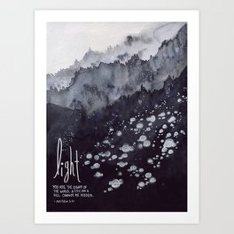 Light of the World, City on a Hill - Matthew 5:14 Art Print