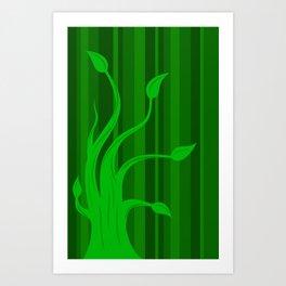 green tree 2 Art Print