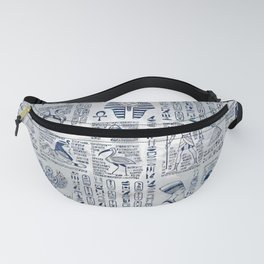 Egyptian hieroglyphs and deities abalone on pearl Fanny Pack