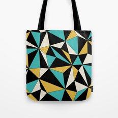 Geo - blue, orange, black and white. Tote Bag