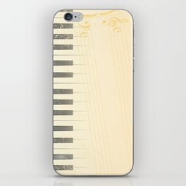 Antique Piano Background iPhone Skin
