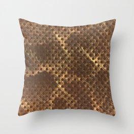 Faux Snake Skin Pattern Throw Pillow