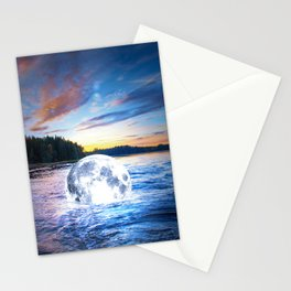 Floating Moon Stationery Cards