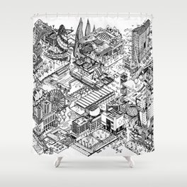 ARUP Fantasy Architecture Shower Curtain