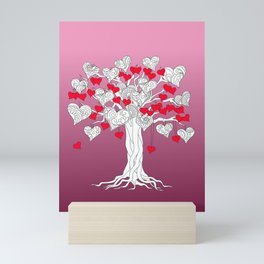 tree of love with hearts Mini Art Print