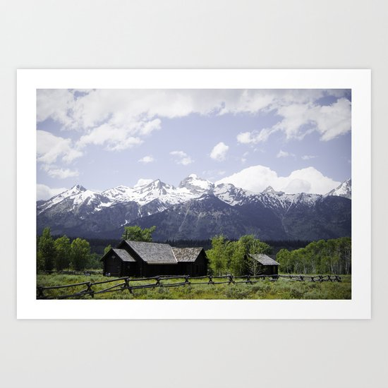 Church at the base of the Tetons Art Print