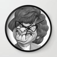 snl Wall Clocks featuring Austin Power, Mike Myers by Patrick Dea