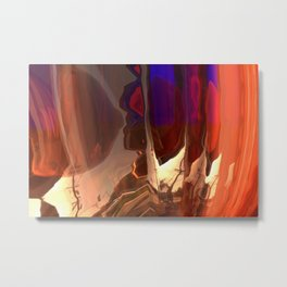 My Distorted Street Metal Print