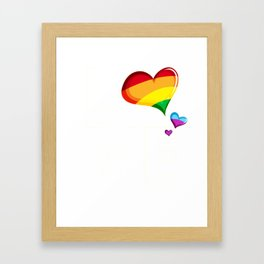 Love Rainbow LGBTQ Framed Art Print