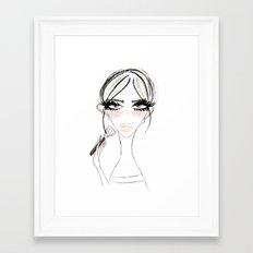 Morning MakeUp Framed Art Print