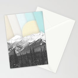 Morning Light Mountain Collage Stationery Cards