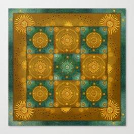 """Moroccan chess Celestial & Ocher Pattern"" Canvas Print"