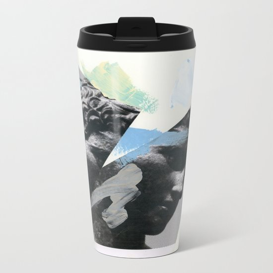 Untitled (Painted Composition 1) Metal Travel Mug