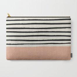 Peach x Stripes Carry-All Pouch