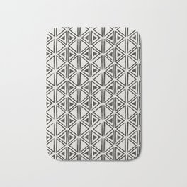 Block Print Diamond Bath Mat