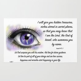 Galaxy eye - Isaiah 45, 3 Rug