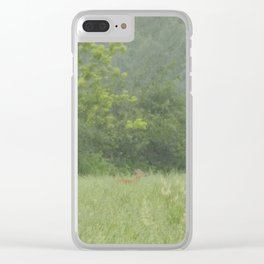 Hayfield Deer Clear iPhone Case