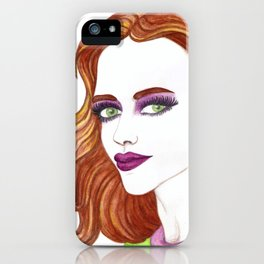 Fashion Illustration Portrait  iPhone Case