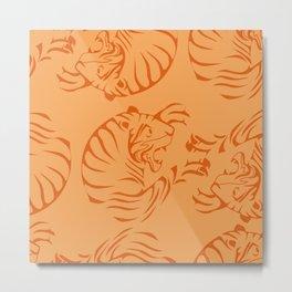 Orange Tigers Metal Print