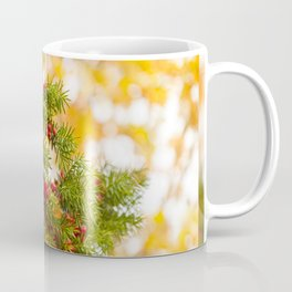 Yew red fruits bunch grow Coffee Mug